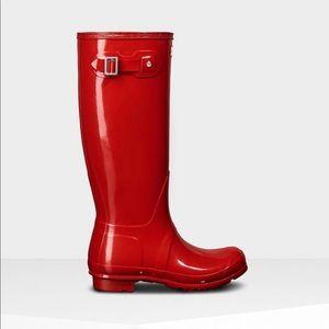 Red Hunter Rainboots